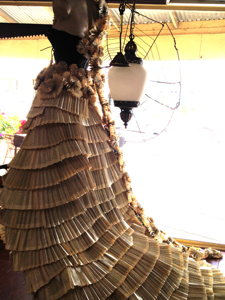 Mady Cook - Paper Dress (detail) (yr 10 student)