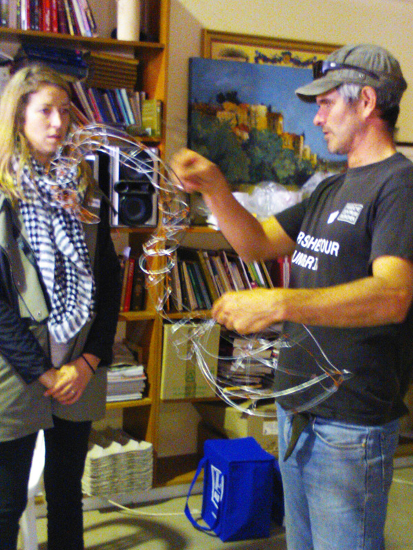 Sam Anderson's wire sculpture workshop
