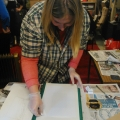 Jenny King's Lino-printing workshop 2014