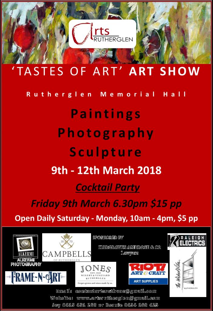 Arts Rutherglen Show 2018