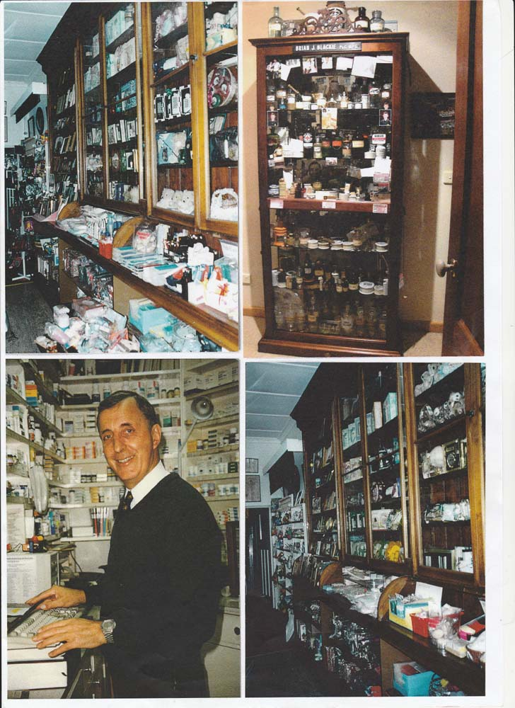 Brian Blackie inside his chemist shop