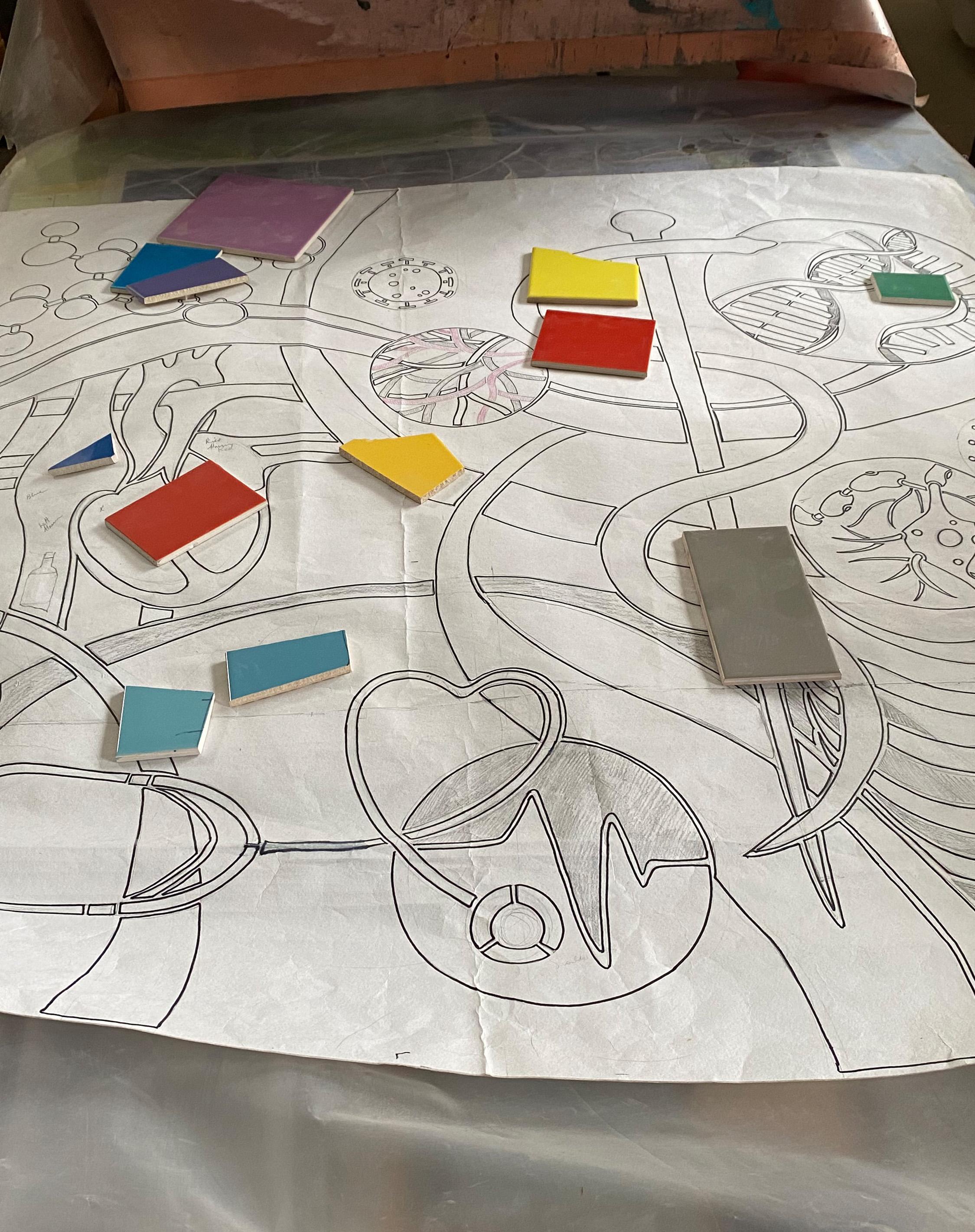Concept design for Symbols of Practice ( in Pam's studio)